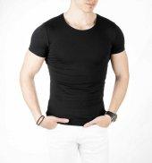 DeepSEA Sıfır Yakalı Likralı Dar Kesim Basic Erkek Tişört 1801131-6