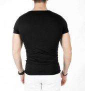 DeepSEA Sıfır Yakalı Likralı Dar Kesim Basic Erkek Tişört 1801131-9