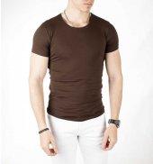 DeepSEA Sıfır Yakalı Likralı Dar Kesim Basic Erkek Tişört 1801131-11