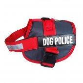 Dog Police Köpek Göğüs Tasması 70 90 Cm Kırmızı...