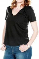 Only Kadın Geniş V Yaka Tshirt 15180561