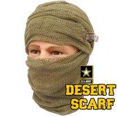 Military Scrim Net Scarf Desert Fileli Şal
