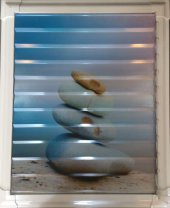 40 X 40 Alüminyum Dekoratif Baskılı Lüks Banyo Wc Panjur