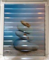 50 X 50 Alüminyum Dekoratif Baskılı Lüks Banyo Wc Panjur