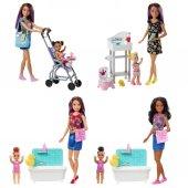 Fhy97 Barbie Bebek Bakıcısı Bebeği Ve Aksesuarları Oyun Seti