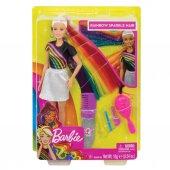 Fxn96 Barbie Gökkuşağı Renkli Saçlar Bebeği
