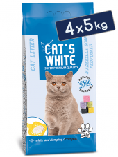 Cat's White Marsilya Sabun Kokulu Bentonit Kedi Kumu 6 L x 4 Adet