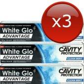 White Glo Advantage Çürük Karşıtı Diş Macunu 91 Ml 3lü Eko Set