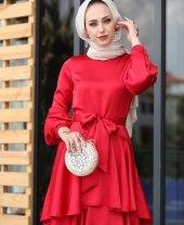 Kırmızı abiye elbise KIRMIZI - 42