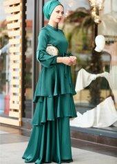 Yeşil abiye elbise YEŞİL - 36