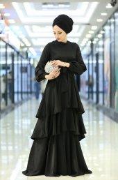 Siyah Abiye elbise SİYAH - 40-2