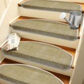 Sütlü Kahvekendinden Yapışkanlı Merdiven Basamak Paspası Halısı