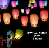10 Adet Dilek Feneri Dilek Balonu Gökyüzü...
