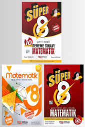 Süper 8. Sınıf Matematik Konu + Soru + Deneme Sınavı Seti Nitelik