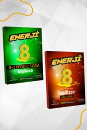 Enerji 8. Sınıf İngilizce Soru Kitabı Ve 8+8 Li Deneme Seti Palme