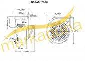 BVN Bahçıvan BDRAS 120-60 Alüminyum Gövdeli 290 m³/h Salyangoz Fan-3