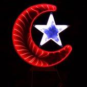 Ay Yıldız Işık Pano Türk Bayrağı