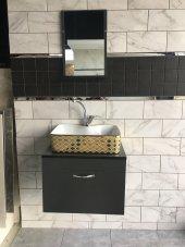 Banyo Dolabı+etajerli Ayna+euroser Lavabo+mix Batarya