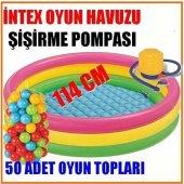52 Parça Çocuk Oyun Havuzu Seti Havuz + 50 Top + P...