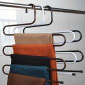 5 Li Pantolon Askısı Dolap İçi Düzenleyici Askılık...