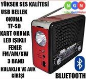 Ahşap Analog Müzik Kutusu Mp3 Çalar Fm Radyo...