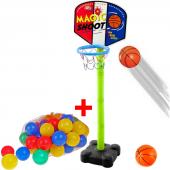 Ayaklı Basketbol Potası Seti + 10 Oyun Topu