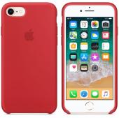 Apple Orijinal İphone 7 8 Kırmızı Silikon Kılıf