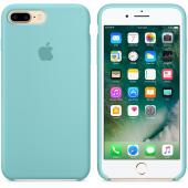 Apple Orijinal İphone 7 8 Deniz Mavisi Silikon Kılıf