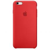 Apple Orijinal İphone 6 Plus 6s Plus Kırmızı Silikon Kılıf