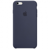 Apple Orijinal İphone 6 Plus 6s Plus Gece Mavisi Silikon Kılıf