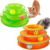 Tower Of Tracks 3 Katlı Kedi Oyuncağı Kovalama Yakalama Oyuncağı