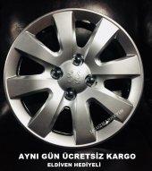 Peugeot Uyumlu 15 İnç Jant Kapağı Kelepçe Hediyeli