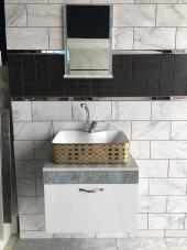 Banyo Dolabı+etajerli Ayna+euroser Lavabo+mix Lavabo Batarya