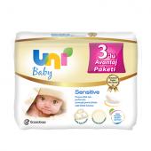 3 Adet Uni Baby Sensitive Islak Bebek Havlusu 3*56 Yaprak