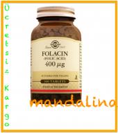 Solgar Folic Acid (Folacin) 400 Mcg Folik Asit Skt 01 2021