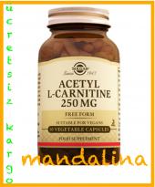 SOLGAR Acetyl L-Carnitine (L Karnitin) 30 Kapsül SKT:01/2022