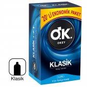 OKEY Klasik Prezervatif 20li Ekonomik Paket Kondom SKT:08/2023