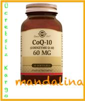 SOLGAR CoQ-10 (Coenzyme Q-10) 60 MG 30 Softgels SKT:01/2020
