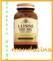 Solgar L Lysine 500 Mg 50 Kapsül (L Lizin) Skt 02 2021