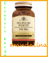 SOLGAR No-Flush Niacin 500 mg 50 Kapsül SKT:10/2022