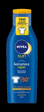 Nivea Sun Koruma & Nem Nemlendirici Güneş Sütü 50+ Spf 200 Ml.
