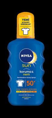 Nivea Sun Koruma & Nemlendirici Güneş Spreyi 50 Spf 200 Ml.