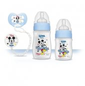 Wee Baby Disney Mickey Ürün Seti Mavi Kod 190 Biberon Emzik