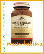 Solgar Reishi Shiitake Maitake Mushroom (Mantarı) Skt 03 2021