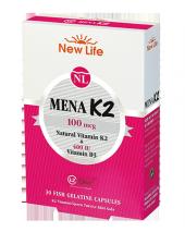 Newlife Mena K2 100 Mcg 30 Kapsül Skt 01 2020 New Life