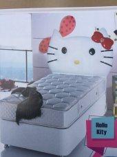 Bengi Alc Tek Kişilik Baza Yatak Başlık Set Hello Kitty