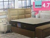 Bengi Alc Çift Kişilik Baza Yatak Başlık Set Çikolata 150*200