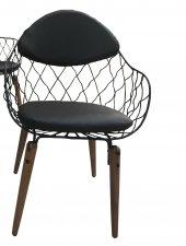Bengi Mutfak Sandalye Tel Ahşap Ayaklı Optima Tornalı-3
