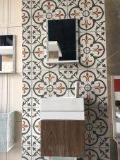 Mdf Parlak Lam Dolap+etajerli Ayna+42x21 Lavabo+montaja Hazır Teslimat.