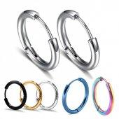 Ince Halka Unisex Erkek Çelik Küpe Çifti Yeni Model 5 Renk Mse5